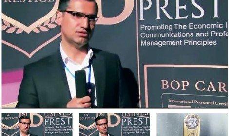 مصاحبه و دریافت تندیس مسولیت اجتماعی سیصد برند برتر و اخذلوح استاد افتخاری بین المللی از کمپانی WTG آلمان وکیل علی رمضانزاده وکيل دادگستری دادگستری